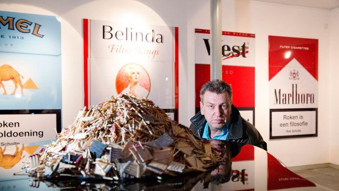 Rob Scholte in Dordrecht bij zijn expositie 'The Best of Rob Scholte'