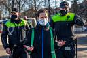 Onder meer in park Lepelenburg en op de Kaatstraat werden arrestaties verricht.