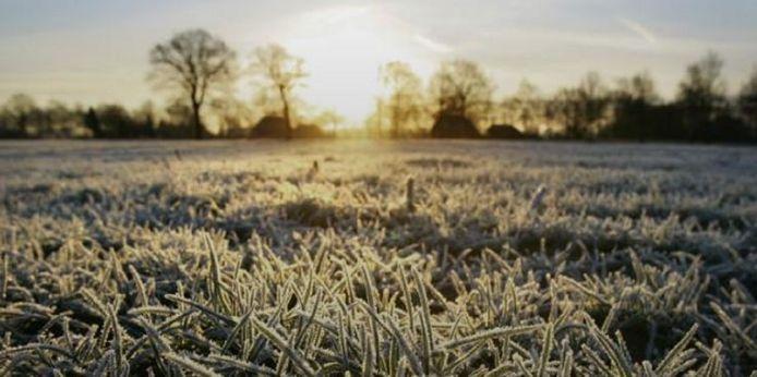Het koudst werd het in de provincies Groningen en Drenthe met - 5,4 graden.