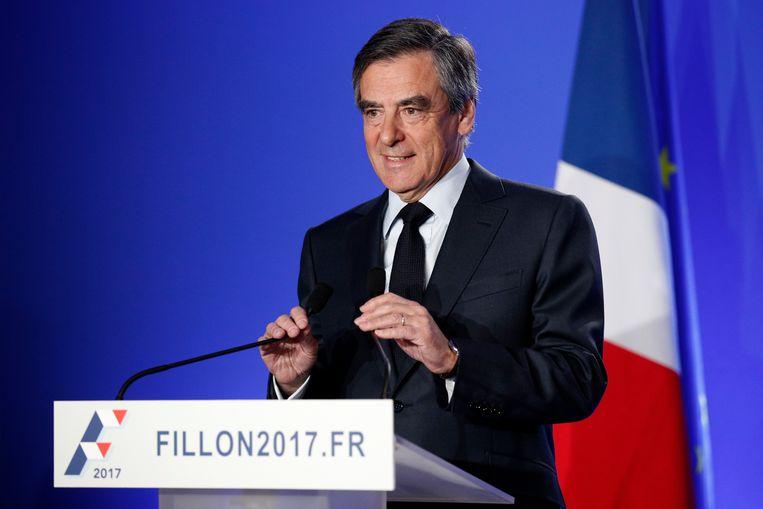 Frans presidentskandidaat François Fillon. Beeld EPA