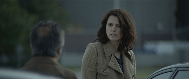 Susan Visser als AIVD-teamchef Ellen Maas in Het spel van de Wolf. Beeld -