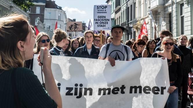 Des centaines d'étudiants manifestent contre Schild & Vrienden à Gand