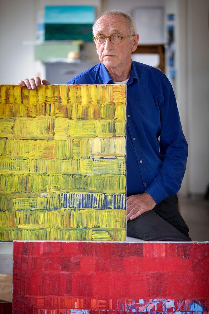 Kunstenaar Jan de Bie in 2018. Foto Marc Bolsius