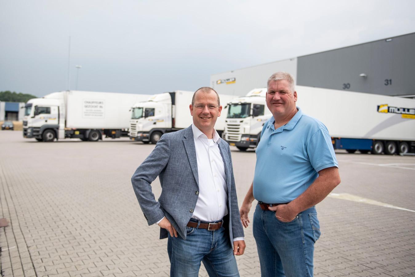 """Anton en Jan-Peter Müller van transportbedrijf Müller. """"Geheimen hebben we niet, niet voor elkaar en niet voor onze mensen. Ondanks dat we zoveel werknemers hebben, proberen we het wel persoonlijk te houden."""""""