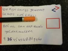 Politie waarschuwt voor 'briefjes-oplichters'