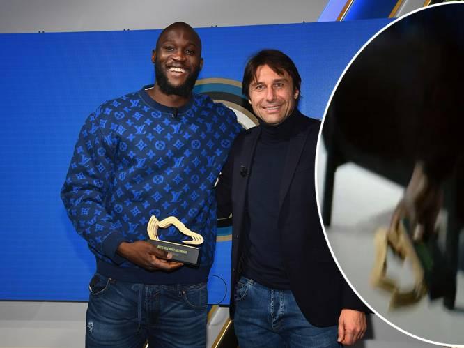 Lukaku is 'Beste Belg in het Buitenland' en wordt verrast door Intercoach Conte, die trofee laat vallen