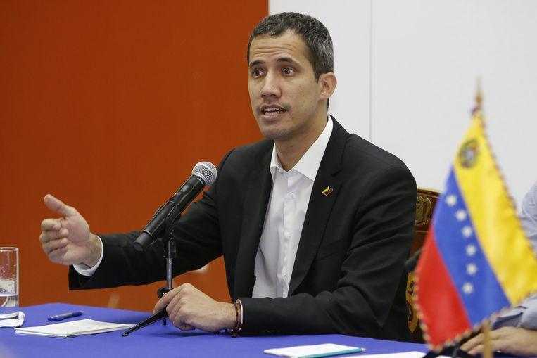 De Venezolaanse oppositieleider Juan Guaidó. Beeld EPA
