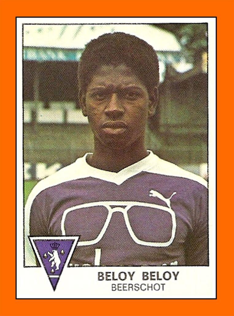 Paul Beloy, speler van Beerschot, op een Panini- sticker uit 1978. Beeld RV Panini