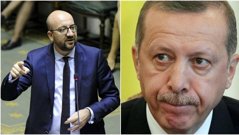 Premier Michel en de Turkse president Erdogan Beeld Belga / EPA