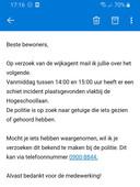 Bewoners wordt om tips gevraagd voor het mogelijke schietincident op de campus in Tilburg.