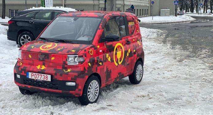 De FreZe Nikrob EV. De auto op de foto heeft een Litouws kenteken.