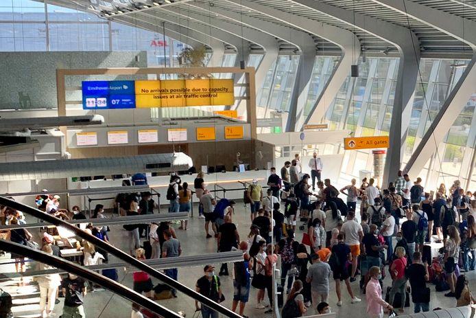 Grote drukte op Eindhoven Airport in verband met problemen Airtraffic control