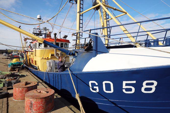 De GO58 in de haven van Stellendam