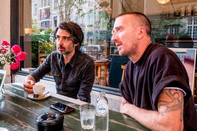 Mauro Pawlowski en Colin H. van Eeckhout. Beeld Stefaan Temmerman