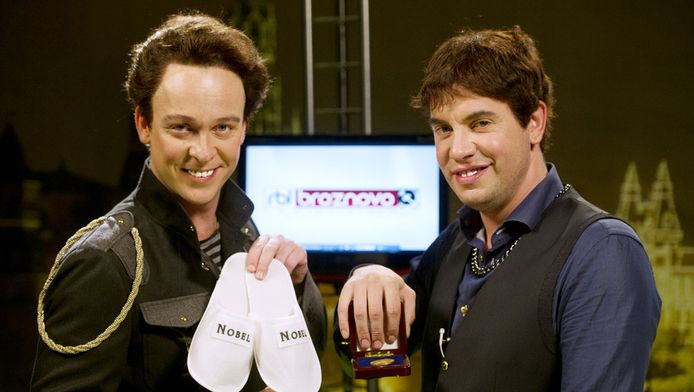 Dennis van de Ven (links) en Jeroen van Koningsbrugge, de makers van Neonletters.