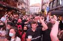 Veel feestvierders aan Sint--Goriks.