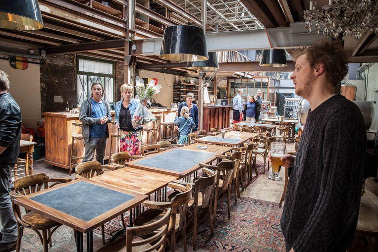 De gelagzaal van stadsbrouwerij Gruut.