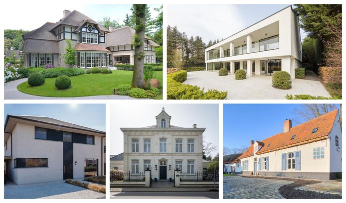 Huizen en appartementen boven de 500.000 euro.