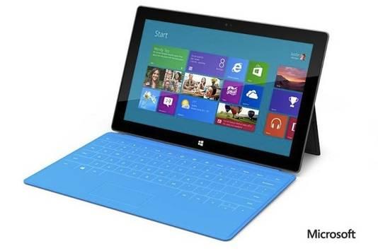 De Surface, de tabletcomputer waarmee Microsoft de iPad gaat beconcurreren.