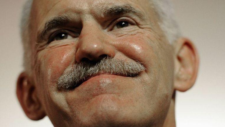 De Griekse premier George Papandreou Beeld afp