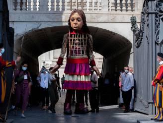 Reuzenpop Little Amal komt op 8 oktober naar Antwerpen