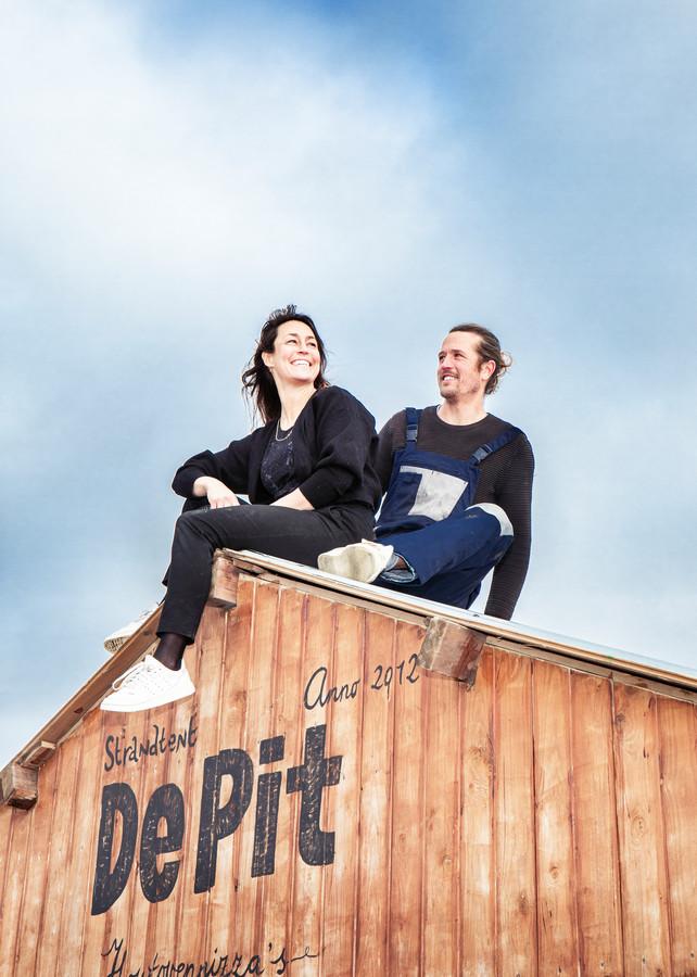 Eigenaren van De Pit: Marleen van de Laak en Mathijs Boulogne.