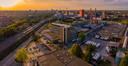 Bedrijventerrein Strijp-T in Eindhoven, gezien richting Strijp-S. Centraal te zien gebouw TQ.