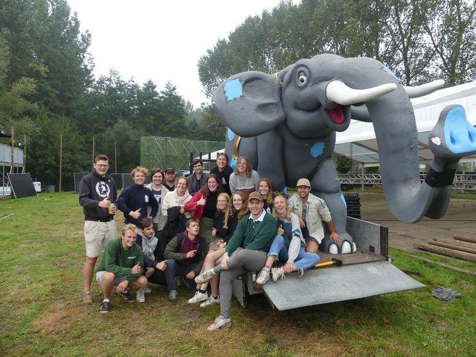 Ook de olifant mag niet ontbreken op de Oerwoudfuif.