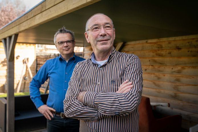 Harrij Creemers (rechts) en François van Schaik hopen op gouden tijden voor Lingewaardse ondernemers.