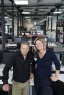 Commercieel directeur Bert Bodde en hoofdredacteur Martha Riemsma