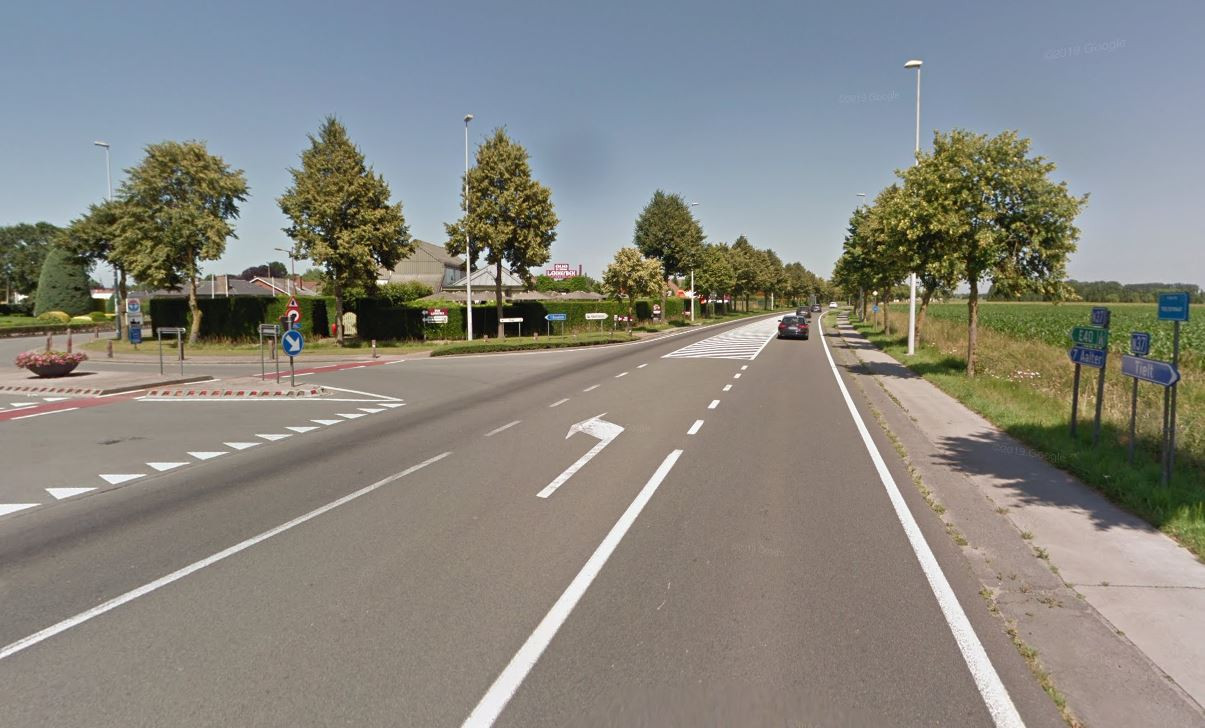 De Ruiseleedsesteenweg krijgt een dubbele trajectcontrole, tussen Tielt en Ruiselede en tussen Ruiselede en Aalter.