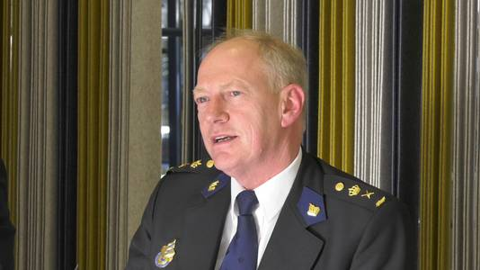 Politiechef Oscar Dros.