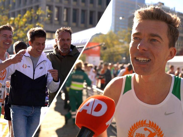 AD-verslaggever Pim Bijl slaagt in zijn bizarre missie en loopt marathon in 2.28,12