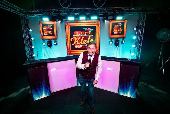 Boy Jansen in de studio van De Grote Klets Show
