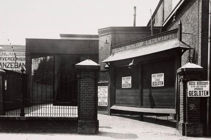 In 1929 werden veel bioscopen, waaronder de Nieuw Bioscoop, gesloten door de overheid. Foto Regionaal Archief Tilburg