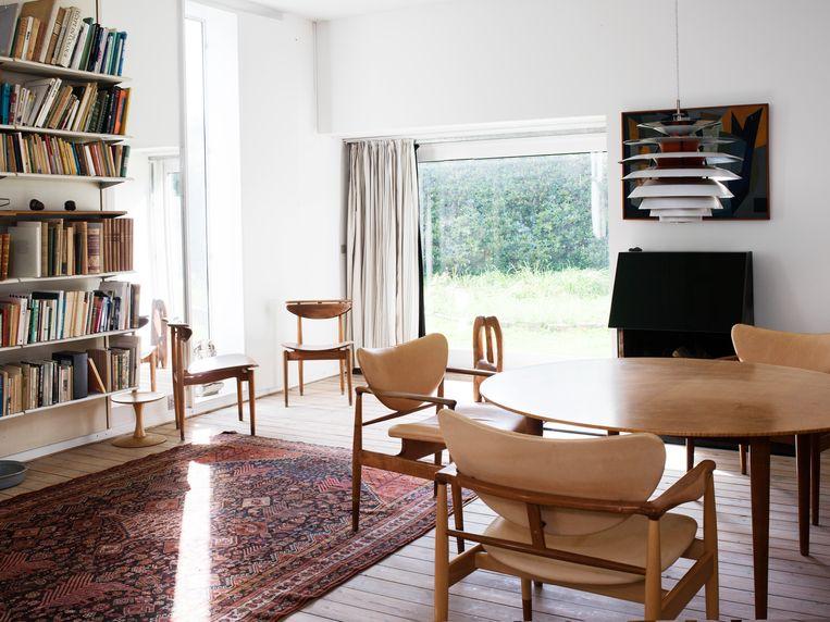 Het Finn Juhl Huis bulkt van zijn inmiddels peperdure meubels. Beeld RV