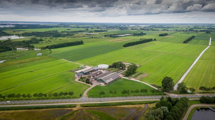 De plek aan de Zomerdijk in Wanneperveen waar het zonnepark moet komen.