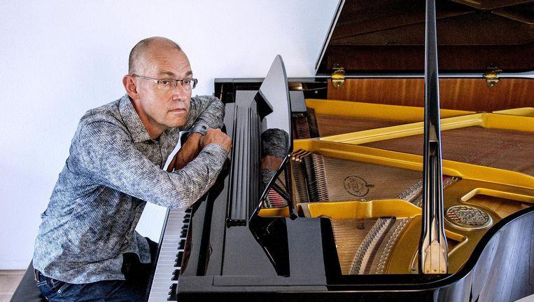 Jan Marten de Vries spande een rechtszaak aan tegen een kerk in Bilthoven die zijn muziek 'illegaal' gebruikte. Beeld Patrick Post