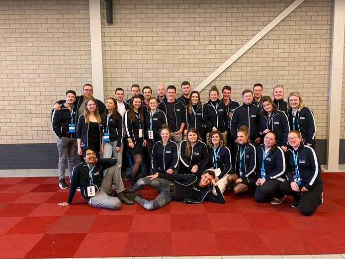 Alle deelnemers van het ROC van Twente tijdens de Nederlandse kampioenschappen voor het mbo.