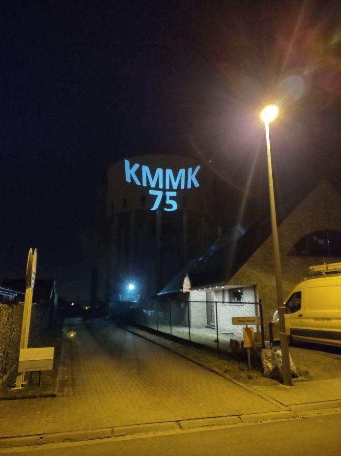 Een bijzondere boodschap op de Koolskampse watertoren.