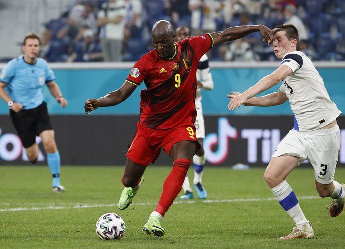 Romelu Lukaku maakte er vlak voor tijd 2-0 van.