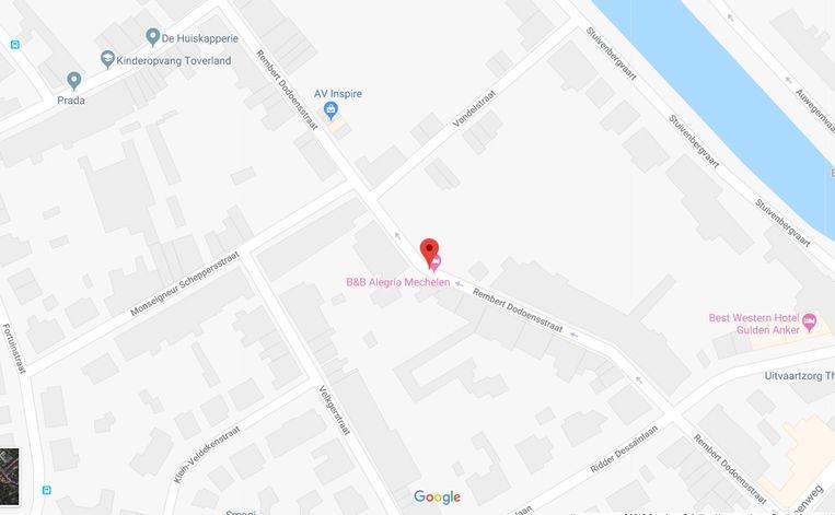 De twee straten op een kaart