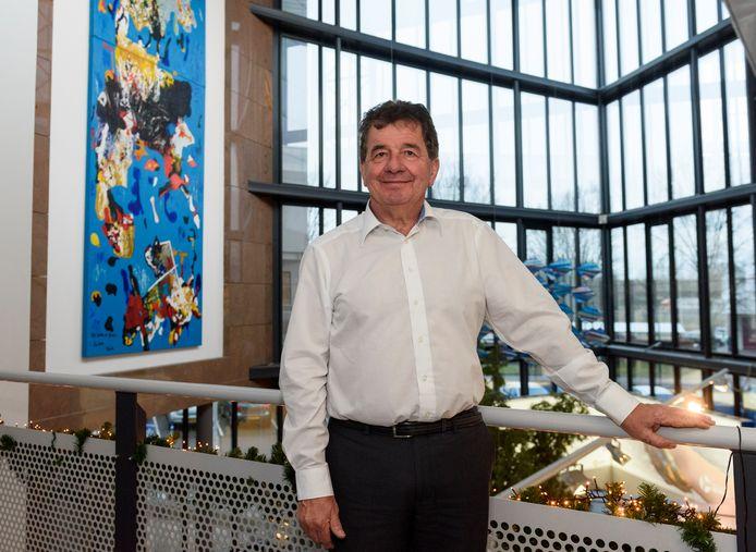 Oud-topman Huub van der Vrande van Neways, gefotografeerd in december 2019 ter gelegenheid van zijn afscheid als bestuursvoorzitter van het Sonse elektronicaconcern.