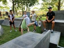 Acrobatische toeren in nieuw freerunpark Spijkenisse