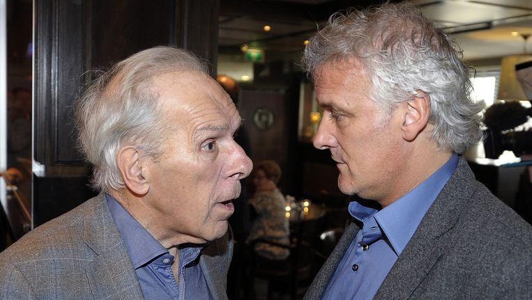 Ex-PSV-voorzitter Harry van Raaij (links) met voormalig PSV-trainer Fred Rutten. Beeld ANP
