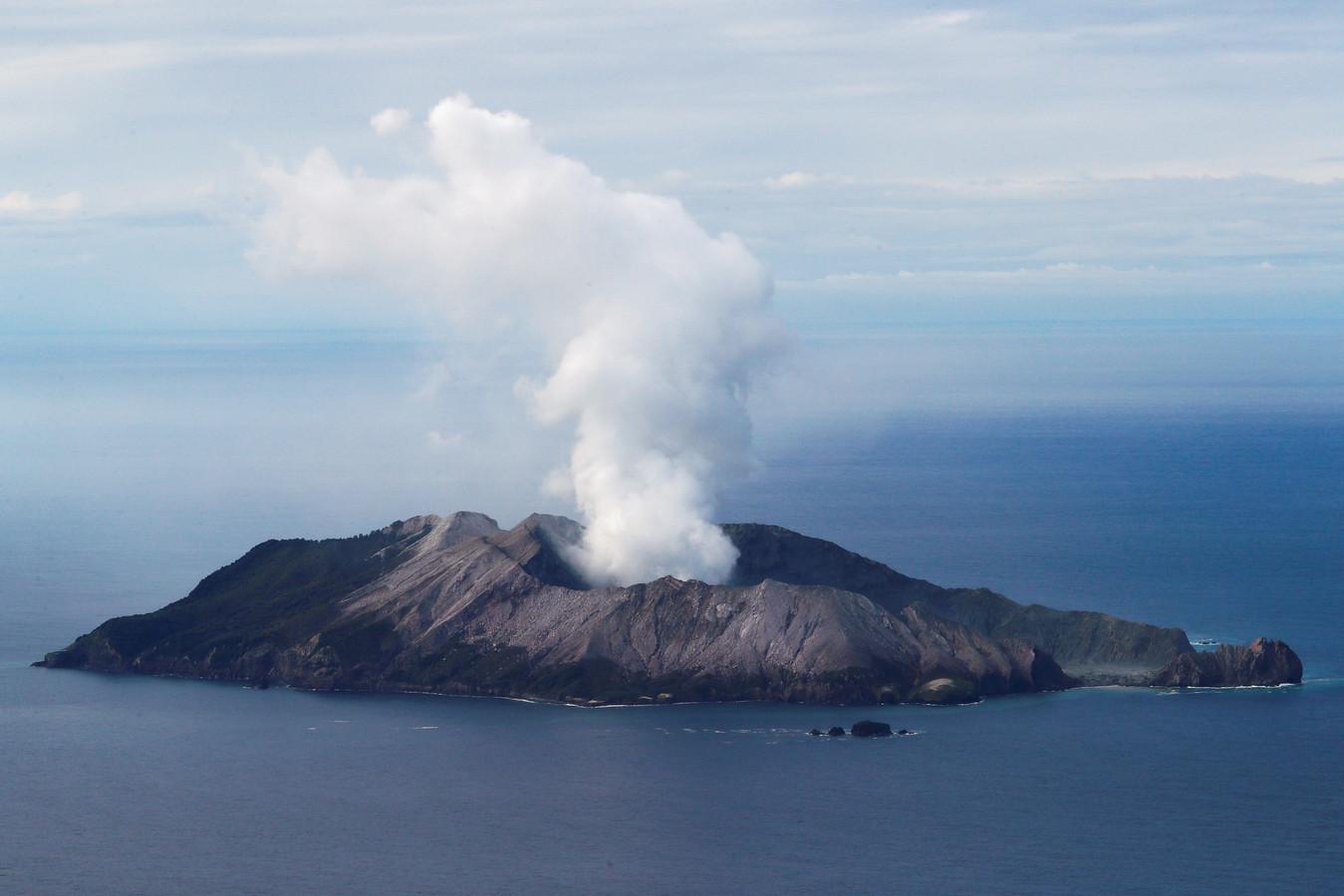 White Island op 12 december vorig jaar, enkele dagen na de uitbarsting die aan 20 mensen het leven kostte.