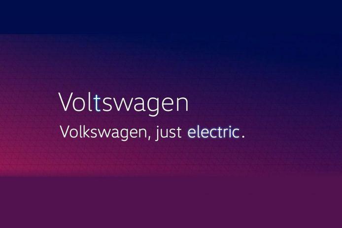 VW onthult zijn nieuwe merknaam in de Verenigde Staten.