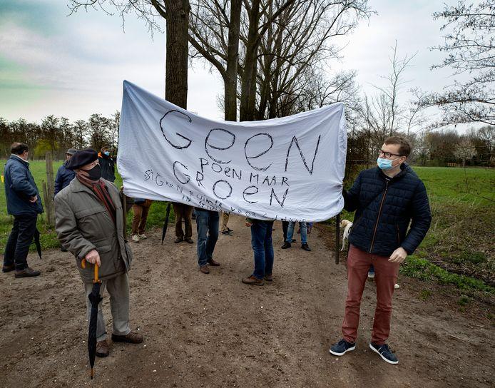 Helmond Stiphout ED2021 10129 Manifestatie tegen zonneveld Stiphout
