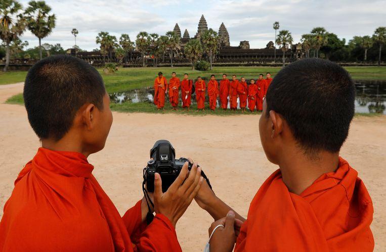Monniken in Angkor Wat. Beeld EPA