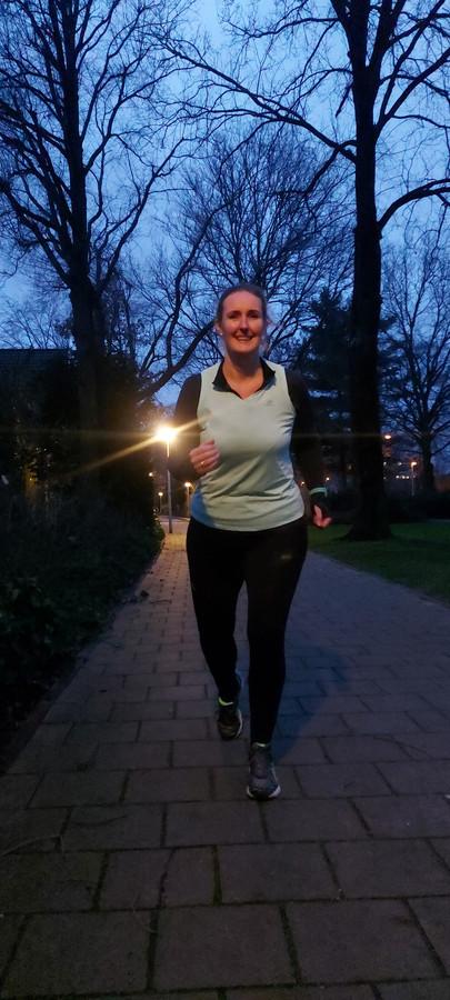 Diana Jurjens uit Eindhoven doet mee aan de Mind Blue Monday Run.